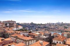 Panorama van de de Douro-rivier en Porto Horizon Porto, Portugal royalty-vrije stock fotografie