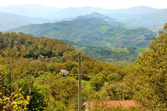 Panorama van de dolomietbergen, Basilicata, Italië Royalty-vrije Stock Foto's