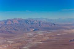 Panorama van de Doodsvallei van hierboven Stock Fotografie