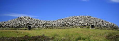 Panorama van de Grijze Steenhopen van Camster in Ca stock foto's
