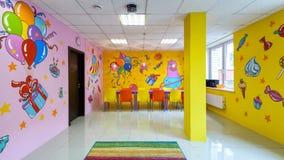 Panorama van de grote zaal voor kinderen` s partijen Royalty-vrije Stock Foto's