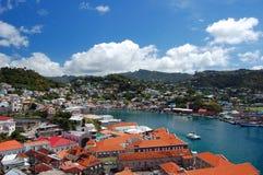 Panorama van de haven van Heilige George Stock Foto