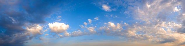 Panorama van de hemel. stock afbeelding