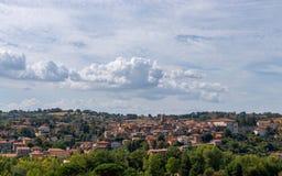 Panorama van de historische stad op de heuvels van Umbrië, Ital royalty-vrije stock afbeeldingen