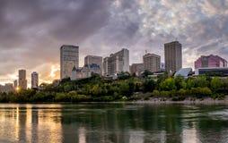Panorama van de horizon van Edmonton ` s royalty-vrije stock foto's