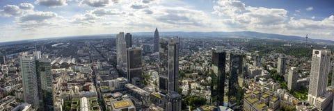 Panorama van de horizon van Frankfurt-am-Main Royalty-vrije Stock Foto's