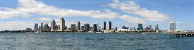 Panorama van de horizon van San Diego stock afbeelding