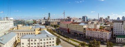 Panorama van de industriële stad van Yekaterinburg, 10 09 2014 Royalty-vrije Stock Foto's