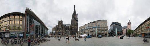 Panorama van de Kathedraal van Keulen duitsland Royalty-vrije Stock Foto's