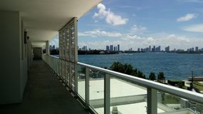 Panorama van de kust van Miami stock foto