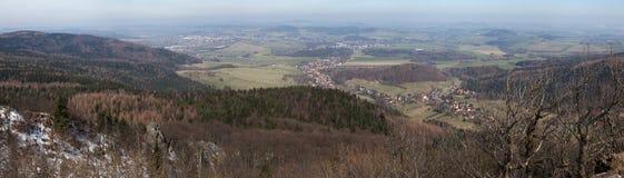 Panorama van de Lusatian-Bergen royalty-vrije stock fotografie