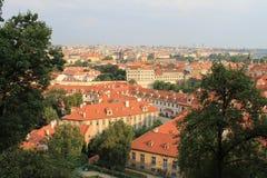 Panorama van de oude stad van Praag, Tsjechische Republiek stock foto