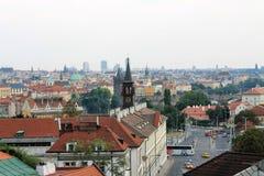 Panorama van de oude stad van Praag, Tsjechische Republiek royalty-vrije stock foto's
