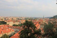 Panorama van de oude stad van Praag, Tsjechische Republiek royalty-vrije stock foto