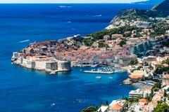 Panorama van de Oude Stad van Dubrovnik, in Kroatië Royalty-vrije Stock Fotografie