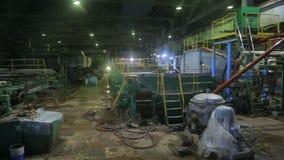 Panorama van de productiewinkel van de installatie stock footage
