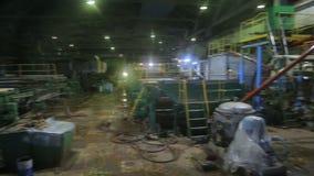 Panorama van de productiewinkel van de installatie stock video