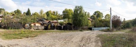 Panorama van de rand van het dorp van Prahova in Roemenië royalty-vrije stock foto's