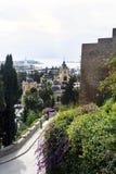 Panorama van de Spaanse stad van Malaga Mooie Mening Alcazaba DE Almeria stock foto's