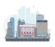 Panorama van de stad royalty-vrije illustratie