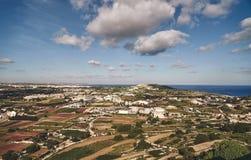 Panorama van de stad van de berg royalty-vrije stock fotografie