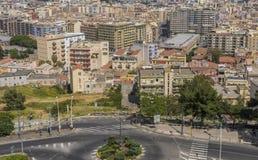Panorama van de stad van Cagliari, het eiland van Sardinige, Italië royalty-vrije stock afbeeldingen