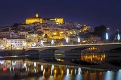 Panorama van de Stad van Coimbra Stock Afbeeldingen