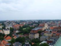 Panorama van de Stad Gniezno Royalty-vrije Stock Fotografie