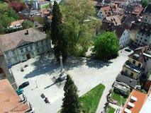 Panorama van de stad van Konstanz, van de kathedraaltoren stock fotografie