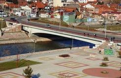 Panorama van de stad van Nish, Servië royalty-vrije stock fotografie