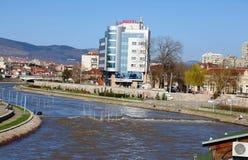 Panorama van de stad van Nish, Servië Royalty-vrije Stock Foto