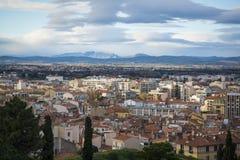 Panorama van de stad, Perpignan, Pyreneeën-Orientales, Frankrijk royalty-vrije stock fotografie