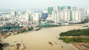 Panorama van de stad of Saigon van Ho Chi Minh vietnam Royalty-vrije Stock Foto