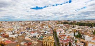 Panorama van de stad van Sevilla, Spanje Stock Afbeelding