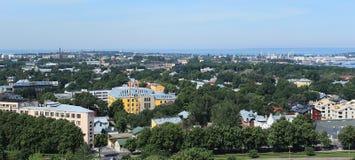 Panorama van de stad Tallinn Stock Foto's