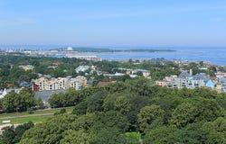 Panorama van de stad Tallinn Stock Afbeeldingen