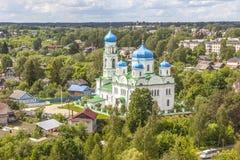 Panorama van de stad van Torzhok royalty-vrije stock afbeeldingen