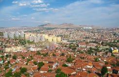 Panorama van de stad van Ankara, Turkije Stock Fotografie