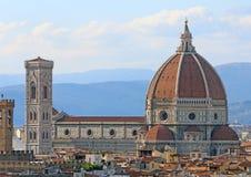 Panorama van de stad van FLORENCE in Italië met de grote koepel royalty-vrije stock afbeelding