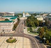 Panorama van de stad van Kiev stock foto