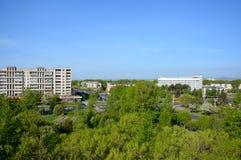 Panorama van de stad van komsomolsk-op-Amur, Rusland Royalty-vrije Stock Foto