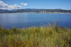 Panorama van de stad van Lefkada Stock Afbeelding