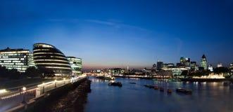 Panorama van de stad van Londen Royalty-vrije Stock Foto