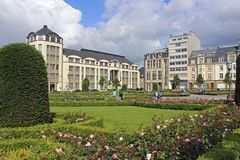 Panorama van de Stad van Luxemburg Stock Foto