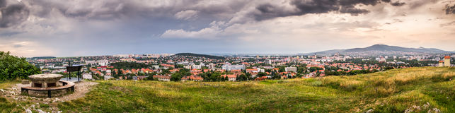 Panorama van de Stad van Nitra Royalty-vrije Stock Afbeelding