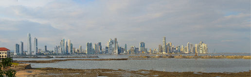 Panorama van de stad van Panama Stock Fotografie