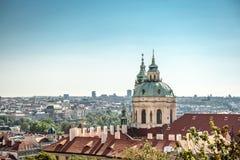 Panorama van de stad van Praag Stock Afbeelding