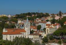 Panorama van de stad van Sintra, Portugal royalty-vrije stock foto's