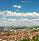 Panorama van de stad van Stuttgart, Duitsland Stock Foto's