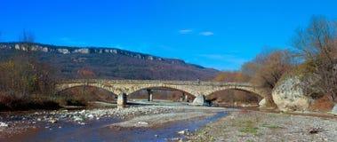 Panorama van de steenbrug Royalty-vrije Stock Foto